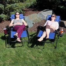Sunnydaze Outdoor XL Zero Gravity Lounge Chair With Pillow And Cup Holder,  Folding Patio Lawn Recliner, Navy Blue, Set Of 2 Phi Villa Outdoor Patio Metal Adjustable Relaxing Recliner Lounge Chair With Cushion Best Value Wicker Recliners The Choice Products Foldable Zero Gravity Rocking Wheadrest Pillow Black Wooden Recling Beach Pool Sun Lounger Buy Loungerwooden Chairwooden Product On Details About 2pc Folding Chairs Yard Khaki Goplus Wutility Tray Beige Headrest Freeport Park Southwold Chaise Yardeen 2 Pack Poolside