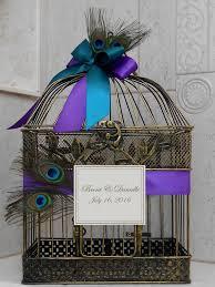 Peacock Wedding Birdcage Card Holder Wedding Card Box