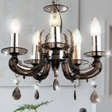 design hänge leuchte wohn zimmer kronleuchter chrom behang