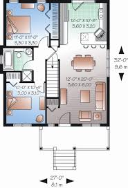 30 X 30 House Floor Plans by Ranch Style House Plan 2 Beds 1 00 Baths 870 Sq Ft Plan 23 2200