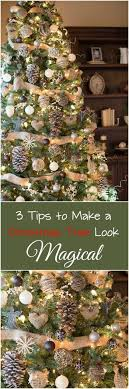 3 Tips To Make A Tree Look Magical Christmas IdeasRustic