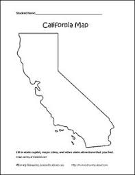 Learn About California With Free Printable Workheets State Map