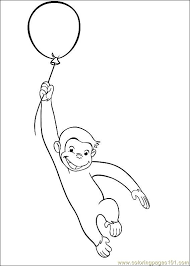Curious George 29 Coloring Page