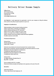 100 Truck Driver Resume Examples Professional Delivery Sample