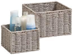 zeller present aufbewahrungskorb aufbewahrungskörbchen set 2 stück ideal fürs bad wohnzimmer oder büro kaufen otto