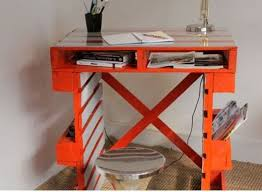fabriquer un bureau avec des palettes modèle de bureau en palette pour une chambre d enfant chambre