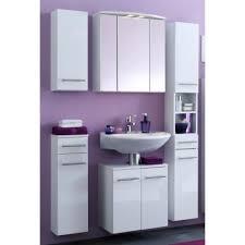 badezimmer set günstig 5 tlg talsi hochglanz weiß