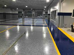 Customizable Concrete Coating For Commercial Parking Polyaspartic Floor