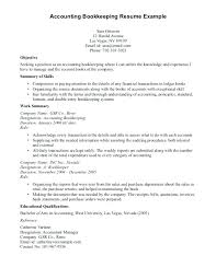 Resume Examples For Bookkeeper Bookkeepers Template Summary