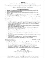 Resume For District Manager Sample Operations In Manufacturing