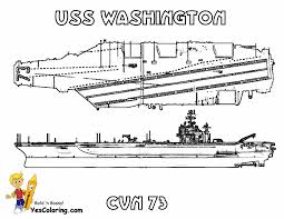 USS Washington Navy Ship Picture To Color At YesColoring