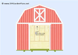 16x20 Gambrel Shed Plans by 50 Free Diy Shed Plans To Help You Build Your Shed