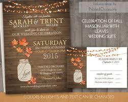 Rustic Fall Wedding Invitations Vibrant Idea 5