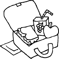 School Lunchbox Coloring Page