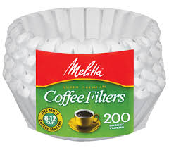8 12 Cup Basket Filter Paper White
