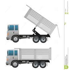 100 Action Truck Dump And Dumping Ten Wheel Stock Vector Illustration