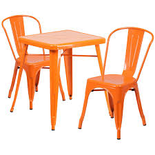 23.75'' Square Orange Metal Indoor-Outdoor Table Set With 2 Stack ... Saddle Leather Ding Chair Garza Marfa Jupiter White And Orange Plastic Modern Chairs Set Of 2 By Black Metal Cafe Fniture Buy Eiffel Inspired White Orange With Legs Grand Tuscany Total Sizes Wd325xh36 Patio Urban Kitchen Shop Asbury With Chromed Velvet Vivian Of World Market Industrial Design Slat Back Products Flash Indoor Outdoor Table 4 Stack