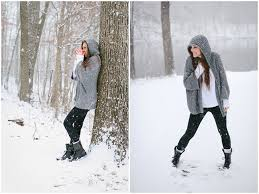 Winter Fashion Shoot In The Snow