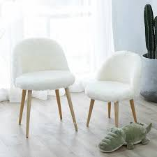 moderne design weiche wolle pelz lounge stuhl mädchen schlafzimmer hocker esstisch stuhl mode wohnzimmer stuhl möbel freizeit loft stühle
