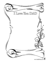 I Love My Daddy Coloring Pages Fathers Day Printable Free