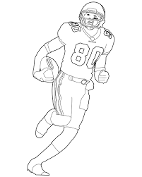 Running Football Player Coloring Pages Page