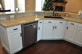 Off White Kitchen Cabinets Antique For Sale With Dark Countertops D S