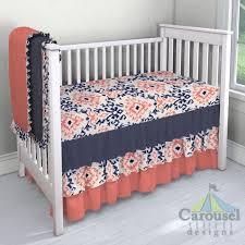 best 25 coral crib bedding ideas on pinterest coral chevron