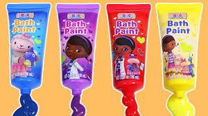 Crayola Bathtub Fingerpaint Soap Set by Learn Colors With Doc Mcstuffins Bath Paint Fun Way To Learn