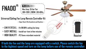 Ceiling Fan Balancing Kit Amazon by Amazon Com Fnado Universal Ceiling Fan Lamp Remote Controller Kit
