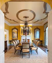 Mediterranean Dining Room With Distinctive Full Artistic Value Beautiful Set Gorgeous Ceiling Gold Color Frame As Well