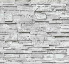 vliestapete stein 3d optik grau weiß mauer 02363 30