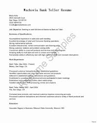 Citibank Teller Cover Letters Fresh Resume Examples For A Bank Position Sample No Experience
