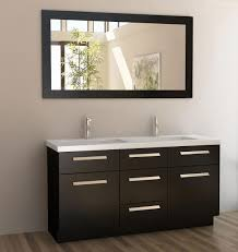 Double Sink Vanity With Dressing Table by Rustic Double Sink Vanity Natural Exposed Stone Wall White Ceramic