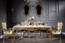 casa padrino luxus barock esszimmer set weiß gold 1 esstisch 6 esszimmerstühle handgefertigte esszimmer möbel im barockstil edel prunkvoll
