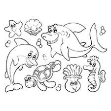 Cool Design Ideas Ocean Creatures Coloring Pages 35 Best Free Printable Online