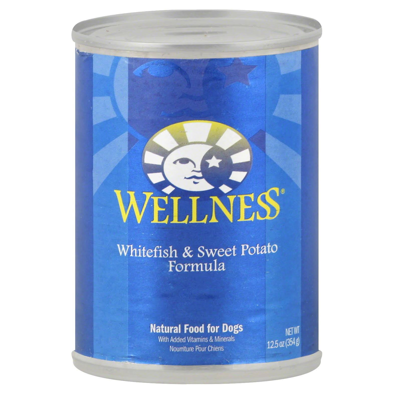 Wellness Natural Food for Dogs, Whitefish & Sweet Potato Formula - 12.5 oz