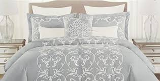 Tahari Bedding Collection by Tahari Bedding 3 Piece Full Queen Duvet Cover Set White