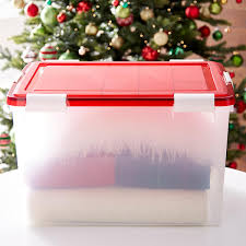 Christmas Tree Storage Bin Plastic storage totes large storage containers u0026 plastic containers the