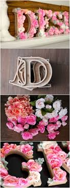 DIY Rustic Letters With Flowers For Wall Decoration