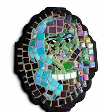 Frankenstein Lady Monster Mosaic Portrait Wall Hanging Art Ready To Hang
