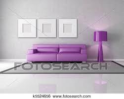 lila und grau wohnzimmer stock illustration k5524656