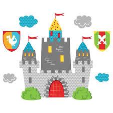 stickers voiture pour chambre garcon sticker mural château fort motif enfant garçon pour chambre