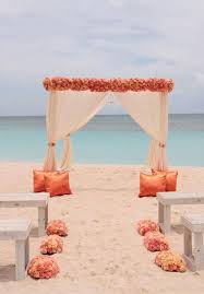 Flowers Sunset Beach Wedding Decoration Photos Shoot Arch Decor 2014