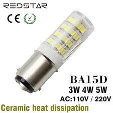 ba15d led light bulb base 3w 4w 5w replacement halogen l 30w