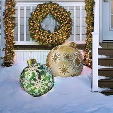 Fiber Optic Christmas Tree Amazon by Massive Fiber Optic Led Outdoor Christmas Ornaments The Green Head