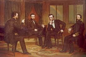 Everett General William T Sherman Ulysses S Grant President Abraham Lincoln Admiral David D Porter Discuss Civil War Strategy 1864