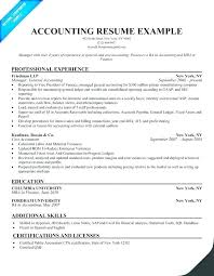 Accounting Resume Examples No Experience