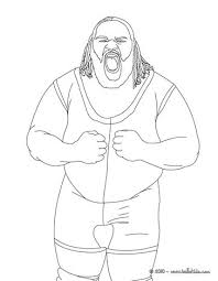 Wrestling Coloring Pages Mark Henry