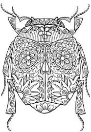 Beetle Bug Abstract Doodle Zentangle Coloring Pages Colouring Adult Detailed Advanced Printable Kleuren Voor Volwassenen Coloriage