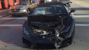 Driver Ditches Lamborghini After Rear-ending Truck In Miami